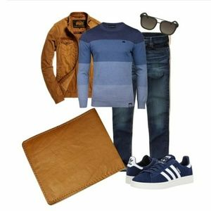 • HP {M} Genuine Leather Wallet